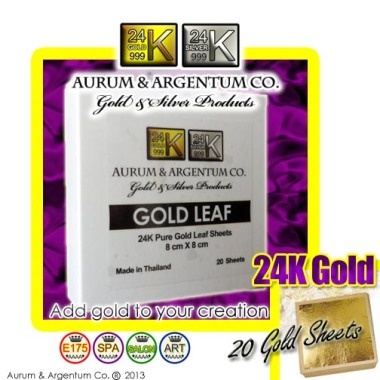 20 gold foil sheets for face mask spa