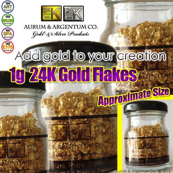 1 gram gold flakes aurum additive color
