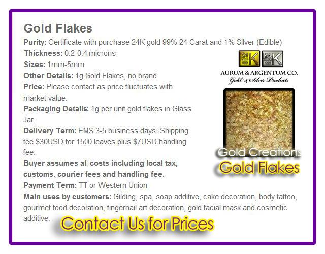 gold flake 24k edible decoration
