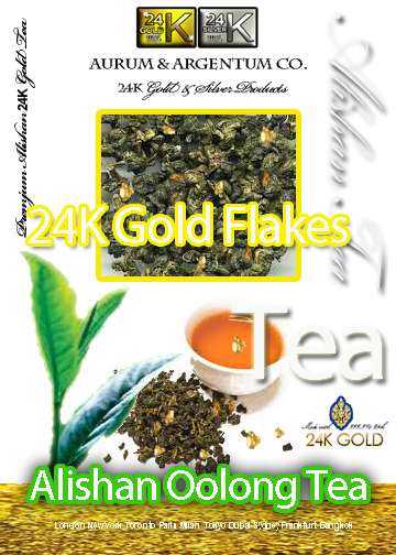 24K GOLD FLAKE OOLONG TEA,EDIBLE GOLD TEA, LUXURY TEA