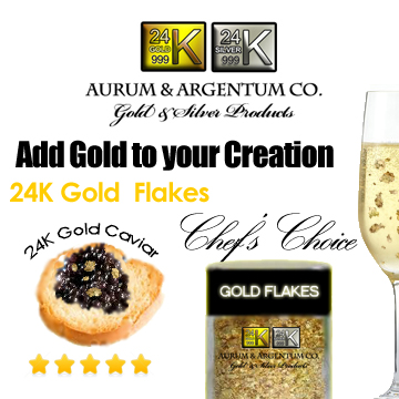 gold caviar 24k flakes leaf gourmet food buy wholesale chef topping