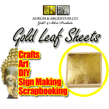 Gold leaf foil sheets used for arts crafts scrapbooking diy 24k suppliers usa europe asia