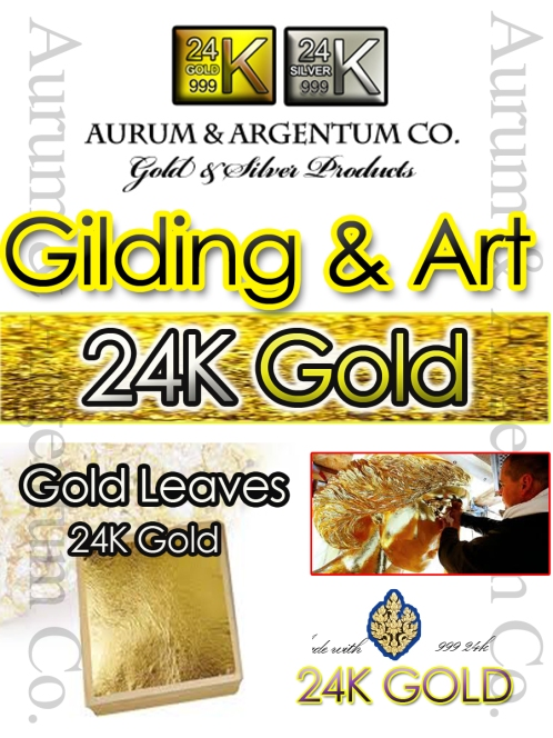 GOLD & SILVER GILDING,GOLD LEAF,GOLD ON BASE,100% GOLD LEAF,24K
