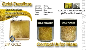 gold leaf gold powder gold flakes additive 24k edible Thailand