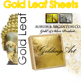 gold leaf sheets foil statue gilding scrapbook crafts art