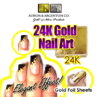 gold foil for nails gold leaf manicure