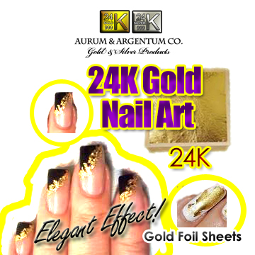 gold sheets for nails salon manicure buy wholesale 24k copy