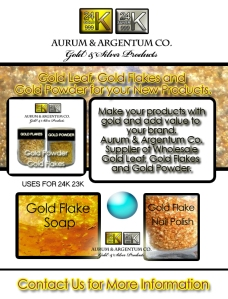 gold flakes in soap bar and gold flakes in nail polish wholesale