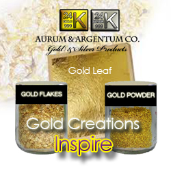24k gold leaf flakes powder