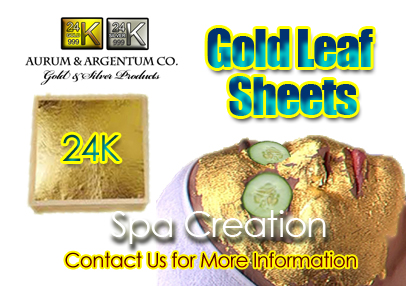 gold foil sheets for facial face mask wholesale