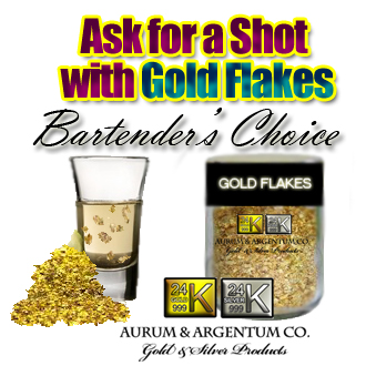 bar shot with gold flakes new drink idea copy