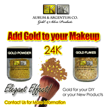 gold foil makeup cosmetics