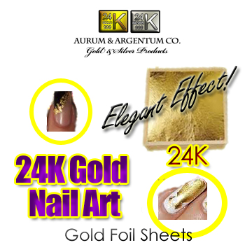 gold foil sheets for nails salon art design buy wholesale 24k