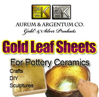 gold foil for pottery crafts