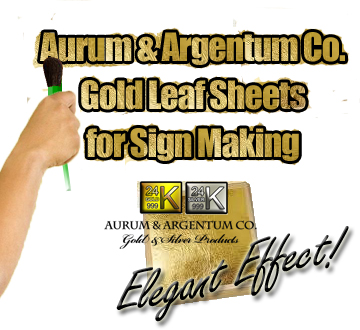 gold leaf for sign making and stenciling