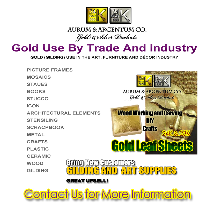 GOLD (GILDING) USE IN THE ART, FURNITURE AND DÉCOR INDUSTRY copy