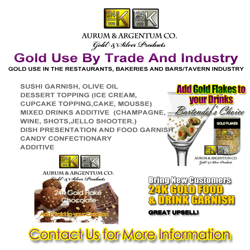 GOLD USE IN THE RESTAURANTS BAKERIES AND BARS TAVERN INDUSTRY copy