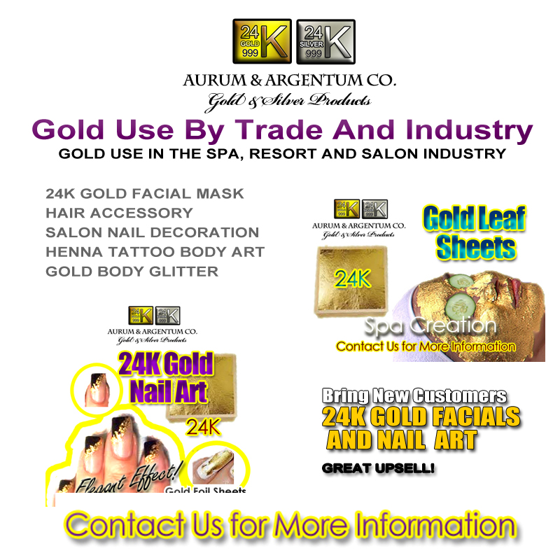 GOLD USE IN THE SPA, RESORT GLITTER 24K HENNA TATTOO AND SALON INDUSTRY copy