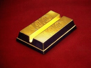 24k gold kitkat chocolate bar